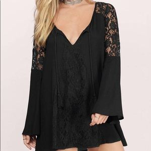 Brand New Black Bell sleeve lace Dress